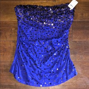 NWT Express strapless top
